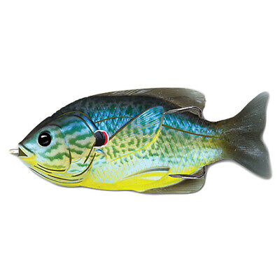 "LiveTarget Sunfish Hollow Body Freshwater, 4"", 3/4 oz, Topwater, Blue/Yellow"