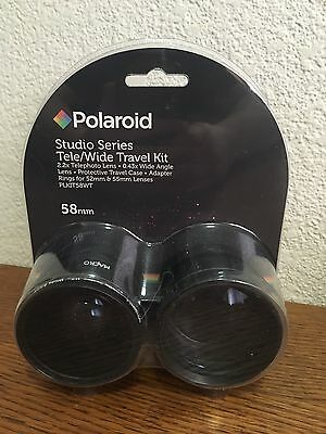 Polaroid Studio Series Tele/Wide Travel Kit 2.2x Telephoto Lens .43x Wide Angle
