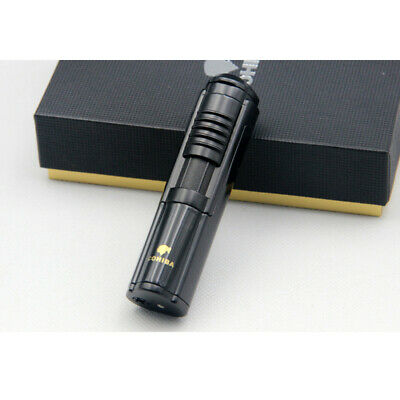 Cohiba Black Metal Wind Proof 1 Torch Jet Flame Cigar Lighter