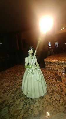 "Vintage Plaster Heavy Victorian Lady Lamp ""gone with the wind"" southern bell"