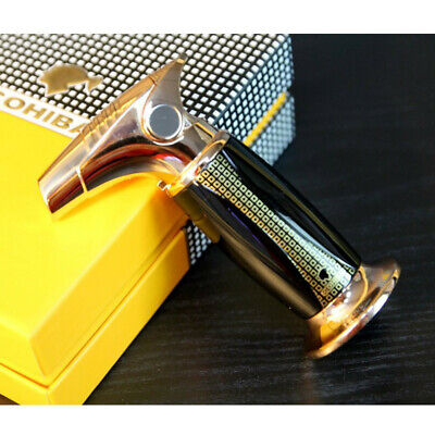 COHIBA Black High-end Finish 1 Jet Flame Cigar Lighter Windproof