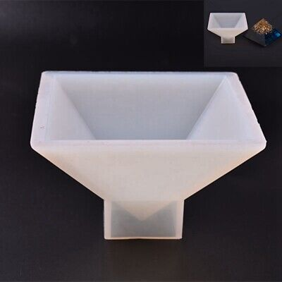 Silicone Mold Large Pyramid Shape Resin Casting Jewelry Making Mould Decorative