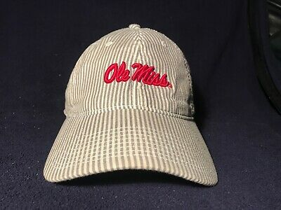 NEW OLE MISS REBELS Baseball Hat Cap - Gray Cotton Twill The Game ... d65cabc6a04e