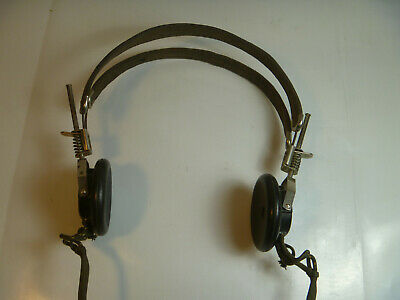 """Vintage Trimm """"Featherweight"""" Headphones Tube and Crystal Radios Nice Cond Hi-Z"""