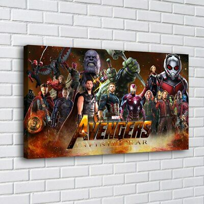 """12""""x20""""Marvel Avengers HD Canvas print Painting Home decor Room Picture Wall art"""