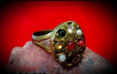 Navaratan Money Attracting 777 Spell Ring Powerful Real Magic Luck Wicca Wealth