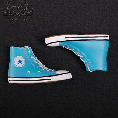 "*Female Casual Sport Canvas Shoes Model Toy 1/6 Scale Blue For 12"" Action Figure"