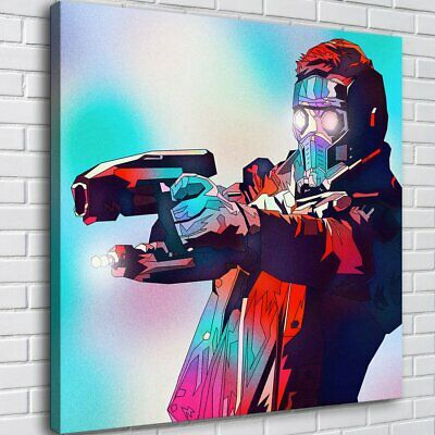 "12""x12""Star Lord Comics HD Canva prints Painting Home decor Poster Room Wall art"