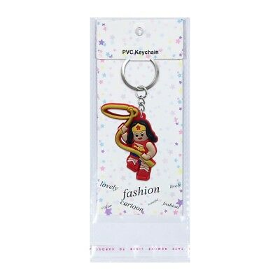 1PCS Wonder Woman Chain Key Ring Kids Toy Key chains Key Holder Charm Party Gift