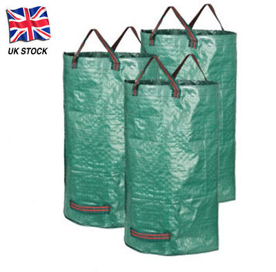 1/2/3/4 120L Garden Waste Bags - Heavy Duty Large Refuse Sacks with Handles UK
