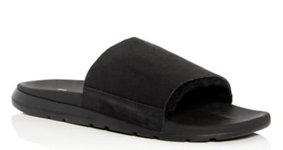 f13cba37454 UGG MEN'S XAVIER TF Genuine Shearling Slide Sandal Size 10 Black ...