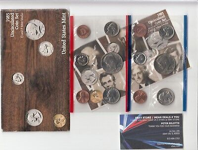 1985 P & D US Uncirculated Mint Set 10 Coins in Original Mint Packaging