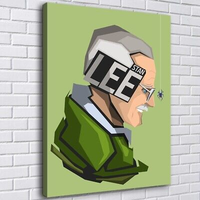 """12""""x16""""Stan Lee Photo HD Canvas prints Painting Home decor Picture Room Wall art"""