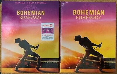 New Bohemian Rhapsody Blu Ray Dvd Digital Target Exclusive Digibook + Slipcover