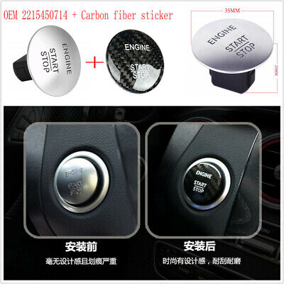 Keyless Start Stop Push Button + Carbon Fiber Sticker Ignition Switch 2215450714