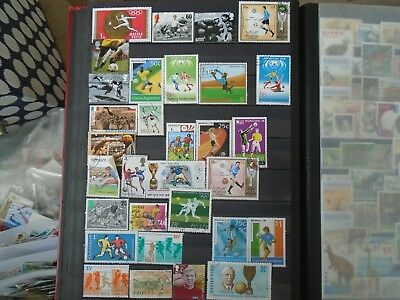 Football & Rugby Stamps worldwide. 30 different off paper. Some High Values.