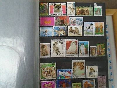 Cats & Dogs Stamps worldwide. 28 different off paper. Some High Values.