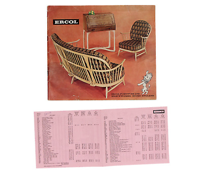 An original old Ercol catalogue & price list 1960's 49 pages Rare