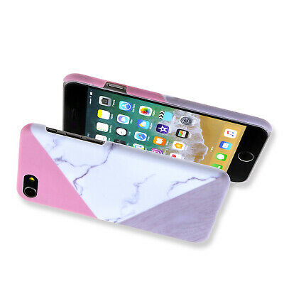 Granite Marble Contrast rbleC Hard Phone Cover Case for iPhone 6/6S - 8 Series