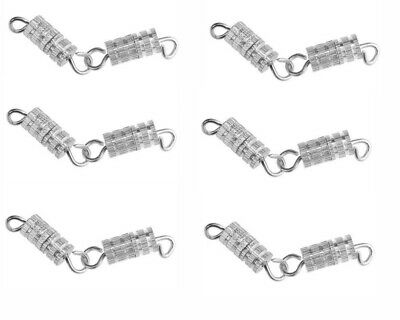 10 Silver Clasps 4X15MM-Barrel Screw Type Clasp Perfect Jewelry Hooks Findings