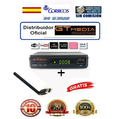 FTA GTMEDIA DVB-S2 V7S HD +Wifi Satellite Receiver Bisskey Digital Full HD 1080P