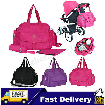 AU Women Mummy Bag Waterproof Tote Shoulder Baby Diaper Nappy Changing Luggage