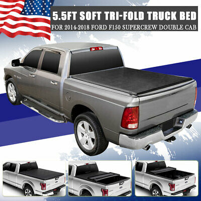 Truck Bed Accessories For 2014 2018 Ford F150 5 5ft 66 Bed Cover Soft Tri Fold Tonneau Cover Motors