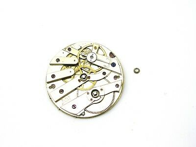 ANTIQUE Mechanical Pocket Watch Movement, Key Wind, Bauer 923, Spares or Repairs