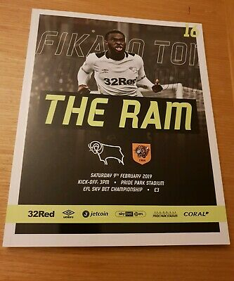 DERBY COUNTY v MILLWALL FEB 20th 2019~MINT & UNREAD BEST DEAL ON EBAY~FREE POST