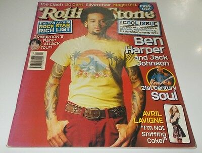 Rolling Stone Mag Issue 614 June 2003 Ben Harper Grinspoon Danish Rock Porn Star