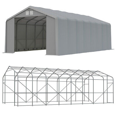 6x12 m XL Solid Warehouse Storage Tent PCV FIRE RESISTANT NEW
