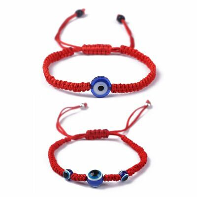 Unisex Blue Evil Eye Kabbalah Red String Bracelets Adjustable Fashion Jewelry