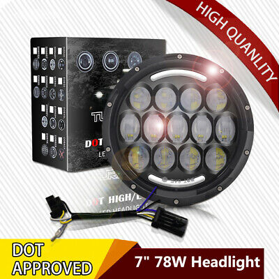 Harley 7Inch 78W LED Car Headlight 6000K LED Offroad Lamp for Jeep Wrangler DRL