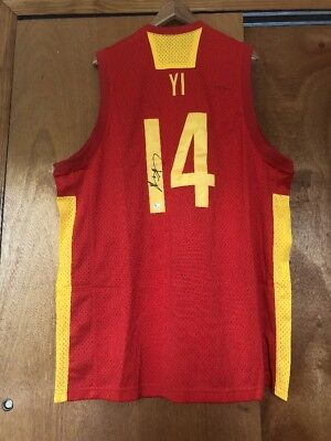 super popular 7c894 db4ca Yi Jianlian signed jersey Chinese National Team autographed China