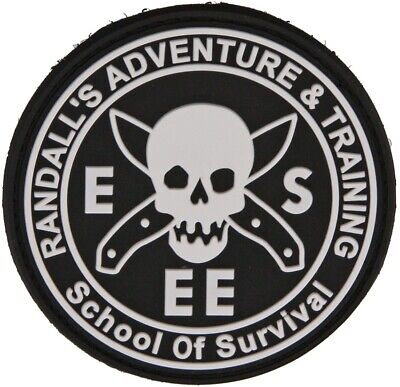 ESEE Black And White Hook And Loop Morale Rat Patch PVC Construction