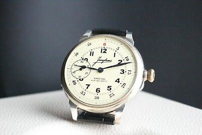 JUNGHANS Vintage 1930`s Non-Magnetic MILITARY STYLE  Men`s German Wrist Watch