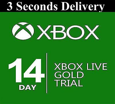 Xbox Live 14 Day 2 Weeks Gold Trial Code 14 Days 2 Week 24/7 INSTANT DISPATCH