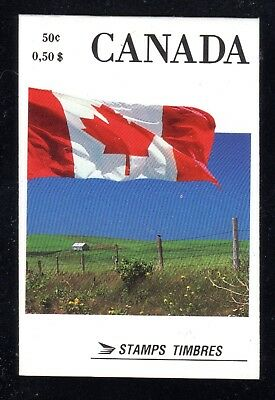 1990 Canada SC# BK 111A - Flag - perforation 12.1/2x13 - booklet of 4 M-NH