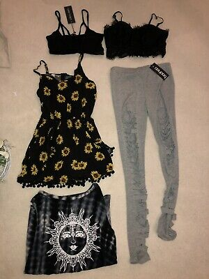 Womens 5 Piece Misguided Size 8 Clothes Bundle With Tags Top/leggings/playsuit