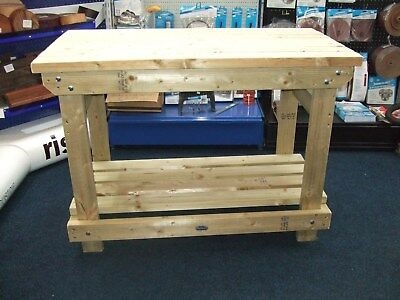 New hand made 5ft solid heavy duty, wooden work bench/ table/desk made in uk