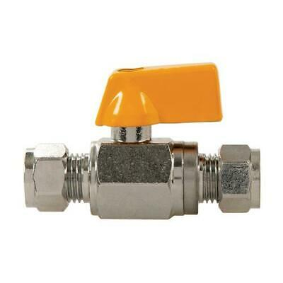 Plumbob Straight Mini Ball Valve 10mm Compression Water Gas Valves 398593