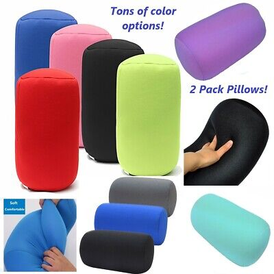 2 Pack Micro Bead squishy hypoallergenic post surgery roll pillows. Two Pillows!
