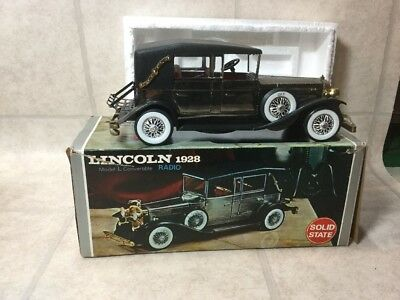 Lincoln 1928 Model L Convertible Radio Vintage Solid State Radio W/ Original Box