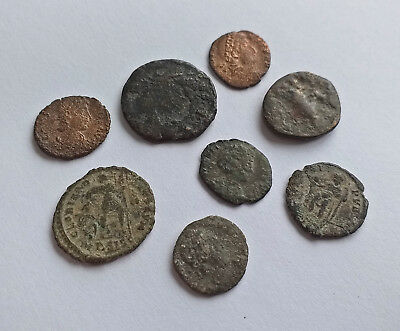 Lot of 8 Ancient Roman Rome coins