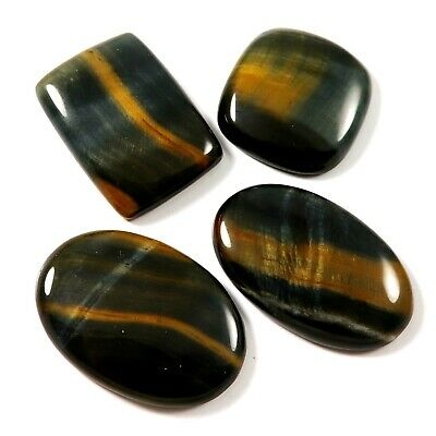 Blue Tiger Eye Cabochon Mix Natural Gemstone 4 Pcs Wholesale Lot 168.15cts LAT66