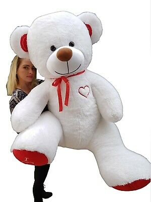 190 cm ! GIANT TEDDY BEAR LARGE BIG HUGE STUFFED white BIRTHDAY WEDDING  GIFT !