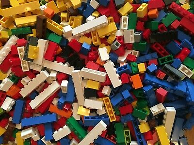 Lego One Hundred 1x2 and 1x3 BRICK MIX in Various Colours