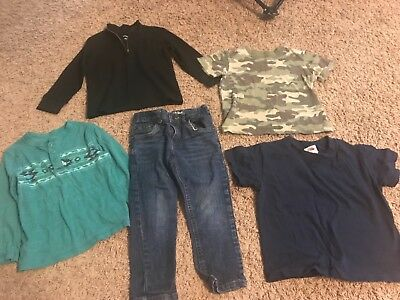 boys toddler lot of 5 jeans shirts size 3t cat & jack Camo long sleeve