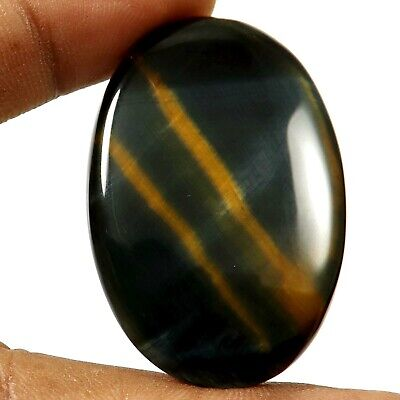 Blue Tiger Eye Cabochon Oval Natural Gemstone 66.9 cts GY68