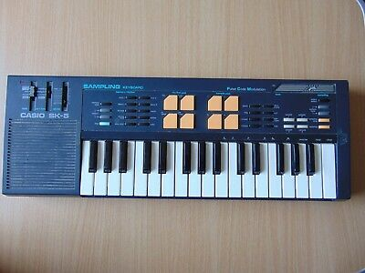 Vintage Casio Portable Sampling Keyboard Sk-5 Tested And Working